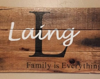 Family is Everything- Custom Name Sign