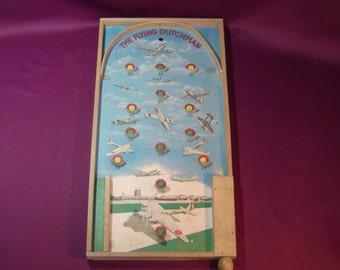 Poosh-m-up. Table de flipper. The Flying Dutchman. Avions de chasse. War planes. Vintage toys.