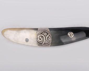 Sterling Silver Hair Barrette . Mother's Day Gifts.