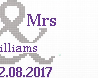 Mr. & Mrs. Cross Stitch