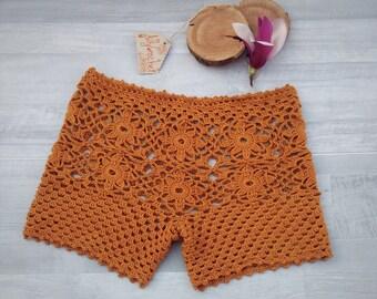 XL shorts for women, plus size crochet, extra large clothing, custom made crochet, trendy plus size fashion, khaki pants shorts, XL clothes