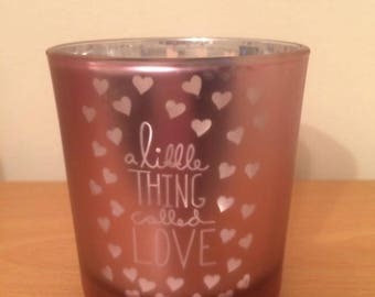 All you need is love Tealight/Candle holder