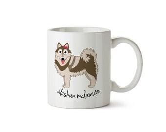Alaskan Malamute Mug (girl)