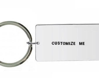large keyring- Custom Keyring- Personalised Keyring- Hand Stamped Keyring- Custom Keychain- Personalized Keychain- Customisable Keyring