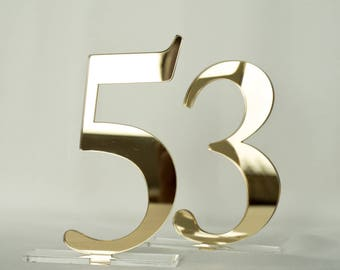 "Mirror acrylic Table Numbers 5"", Wedding Table Numbers, Wedding Table Numbers Set, Wedding Table Decor, Table Numbers,"