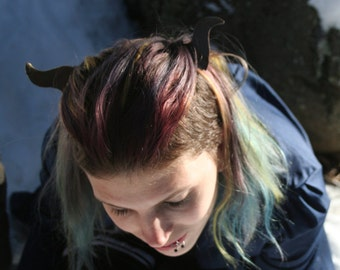Brown & Gold Horn Hair Clip-Sets