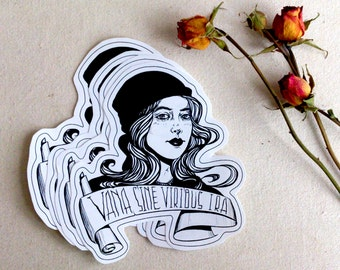 glossy art sticker with an inscription in Latin #2