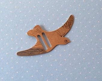 Vintage Novelty Belt Buckle - Dressmaking Belt Clasp - Silver Bird Belt Buckle Bird Accessories - Sewing Haberdashery - Vintage Dressmaking