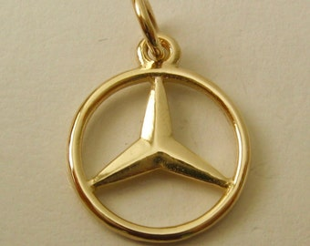 Mercedes halskette etsy for Mercedes benz charm