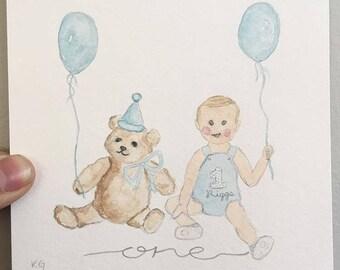 Custom art for birthday invite