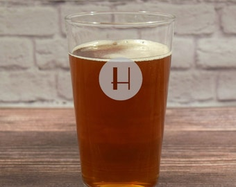 Custom Beer Glasses, Personalized Beer Glass, Beer Glasses, Etched Beer Glass, Beer gift, Wedding Gift, Groomsmen Gift, Monogram Glass