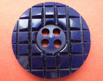 10 BUTTONS 23mm dark blue blue (6168)