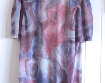 Pastel pink, purple, blue throw over, 90's, retro, psychedelic