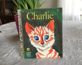 Vintage First Edition a LITTLE GOLDEN BOOK Charlie Hardcover 1970