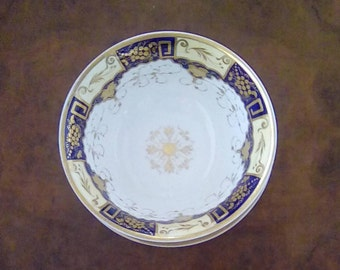 Antique Georgian Porcelain Slop Bowl with Large Saucer Circa 1825  possibly John Yates of Shelton Staffordshire Waste Bowl