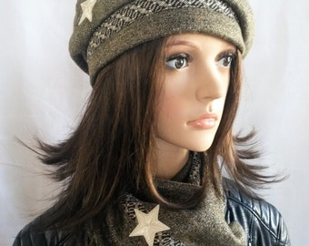 Beret military style with star