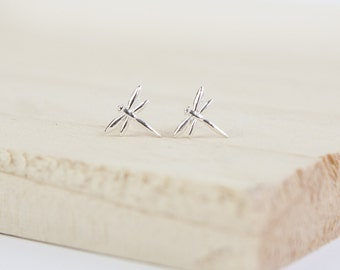 Tilly Dragonfly Earrings, Sterling Silver, Dragonfly Studs, Stud Earrings, Dragonfly Jewelry, Silver Dragonflies, Silver Stud Earrings