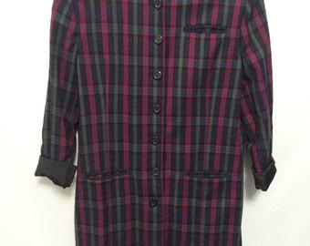 Vintage Long Tartan Jacket
