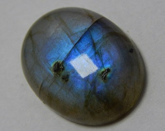 Natural Labradorite Gemstone Smooth Loose Cabochon Oval Shape Blue Power Flash Size : 17X22 MM Approx Best Quality On Wholesale Price.