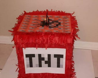 Tnt minecraft  Piñata Handmade. New