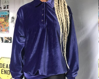 Velvet Purple Pullover Sweater / SIZE M