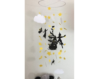 Peter Pan - Pirates  - Peter Pan Mobile  - Nursery Decor - Peter Pan Crib Mobile - Baby Shower Gift- Pirates Mobile - Peter Pan Baby Mobile