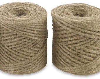 Twisted Jute Twine, 190 ft, all natural biodegradable twine for gifts, gardening, crafts