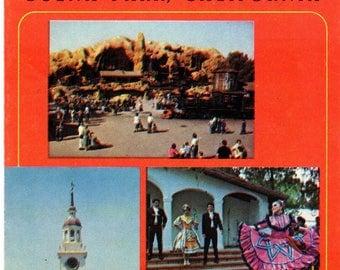 Vintage 1970 Knott's Berry Farm & Ghost Town Travel Brochure