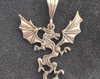 Chinese Imperial Dragon Pendant - High End Sterling Silver