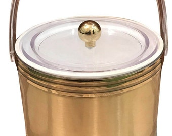 Georges Briard Vintage Lucite Detail Ice Bucket