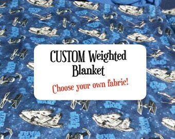 CUSTOM made 8 pound weighted blanket