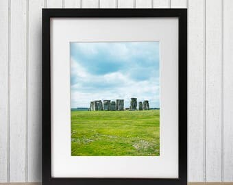 Large Travel Print, Travel Themed Art, Going Away Gift, Stonehenge Photo, Prints, Oversized Artwork, Landmark, Office Photo Art