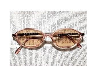 Catseye Pink & Silver Retro Vintage LANCITI Eyeglasses Frames Glasses Nice Quality