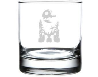 R2-D2, Star Wars tribute, Laser engraved barware