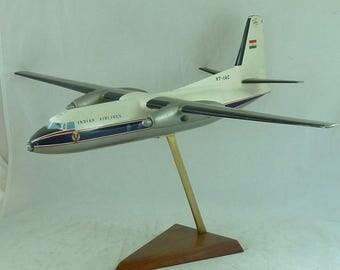 Indian Airlines Aeroplane Model Verkuyl Holland Air Parts VT-IAC F27 Fokker Dutch Vintage