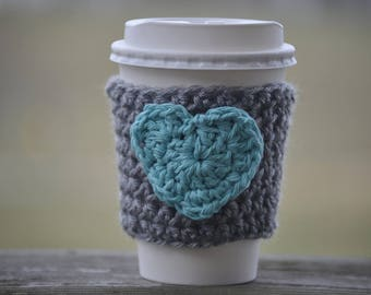 Crochet Cup Cozy - Coffee Sleeve - Crochet Coffee Cozy -  Crochet Coffee Sleeve - Cup Cozy - Eco Friendly Gifts - Birthday Gifts
