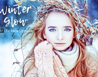 30 Winter Glow Lightroom Presets Professional Photo Editing for Portraits, Newborns, Weddings By LouMarksPhoto