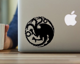 Game of Thrones House Targaryen Decal, Targaryen Sigil Banner, Mother of Dragons, Daenerys, Permanent decal for yeti tumbler Valentines gift