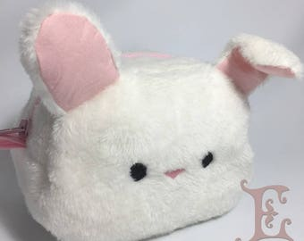 Bunny Pouch - White Plushy Bunny Pouch with folding ears
