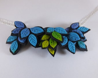 Leaves Polymer Clay Necklace