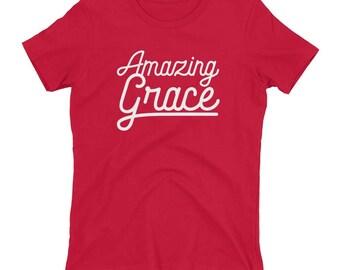 Amazing Grace White Graphic Women's T-shirt