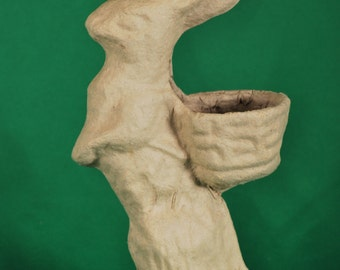 Paper Mache Basket Bunny by BARE NAKED CRAFTS