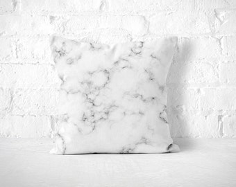 Marble Pillow, Marble Pillow Case, Black White Pillow, Marble Cushion, Marble Throw Pillow, Neutral Throw Pillow, Modern Throw Pillow