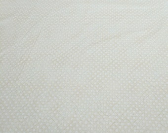 Cream Circles on Cream Cotton Fabric