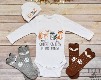 Boy Clothes, Baby Boy Onesies®, Fox Shirt, Woodland Creatures, Woodland Critters, Boho Baby Clothes, Boho Boy Clothes, Woodland Animals