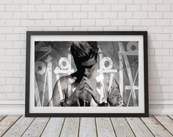 LARGE Justin Bieber Poster / Justin Bieber Print / Justin Bieber Purpose / Justin Bieber Album / Justin Bieber Art / Justin Bieber Album Art