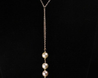 Lavaliere Set with Pearl-Like Beads