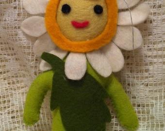 Felt Flower Face Ornament