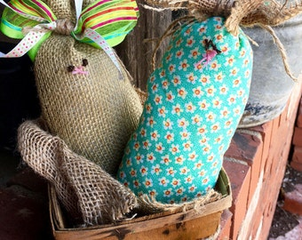 Easter Bunny Decor - Burlap Bunny - Shabby Chic Easter Decor - Easter Bunny - Birthday Gift - Spring Home Decor - Home Decor - Easter Basket