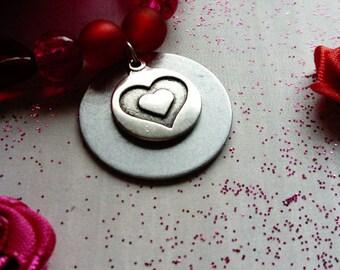love - beaded charm bracelet